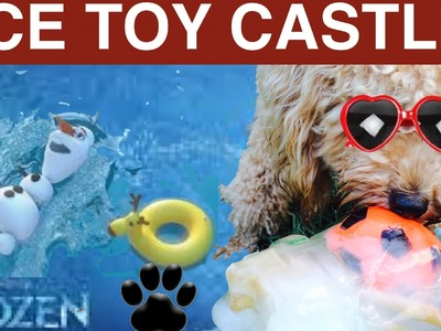 FROZEN ICE DOG TOY CASTLE - DIY Dog Food.Treat - a tutorial by Cooking For Dogs