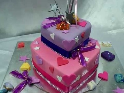 GURU CHEF ROHAN CRAFTS A 2 TIER HEART SHAPE CAKE WITH A PRINCESS THEME