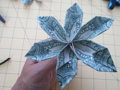 How to Make a Money Origami Flower