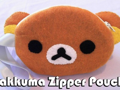 How to Make a Rilakkuma Zipper Felt Pouch tutorial