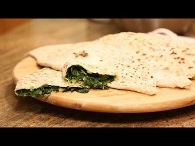 How To Make Armenian Jingalov Hats Flat Stuffed Bread Recipe With Greens