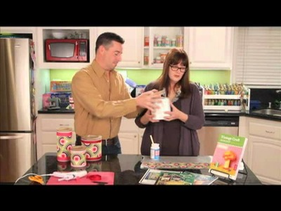 How To Makeover Kitchen Canisters With Fabric Mod Podge from Plaid Craft TV