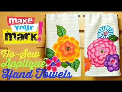 How to: No Sew Appliqué Hand Towels DIY
