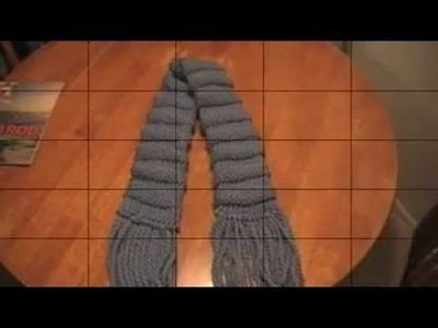 Knifty Knitter Scarf  with a twist.