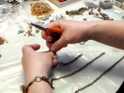 Making a Triple Strand Necklace with Many Charms and Beads, How To Do it by B'sue