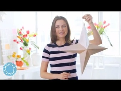 Metallic 3-D Paper Stars - DIY Style - Martha Stewart