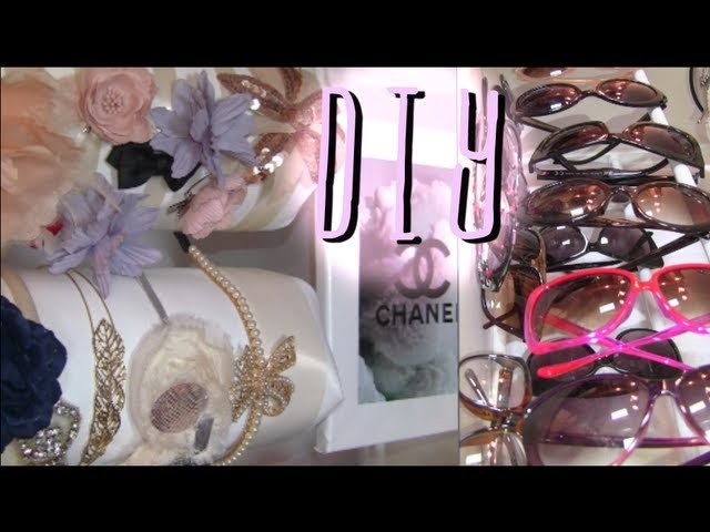 My Hair Accessory & Sunglass Storage (DIY Idea Shoe Rack)