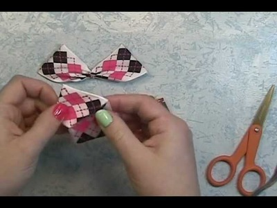 ScrapGenious: how to make Butterflies out of ribbon