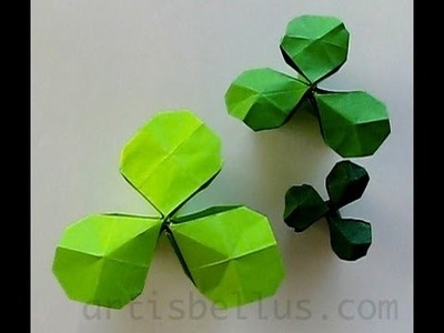 St. Patrick's Day - Origami Shamrock