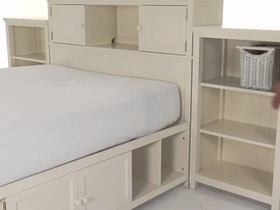 Store and Display with Style with the Teen Beadboard Tower Bed Set from PBteen   PBteen