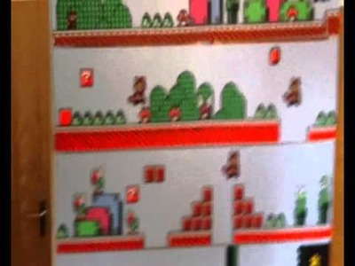 Super Mario Bros 3 World 1-1 in perler beads complete