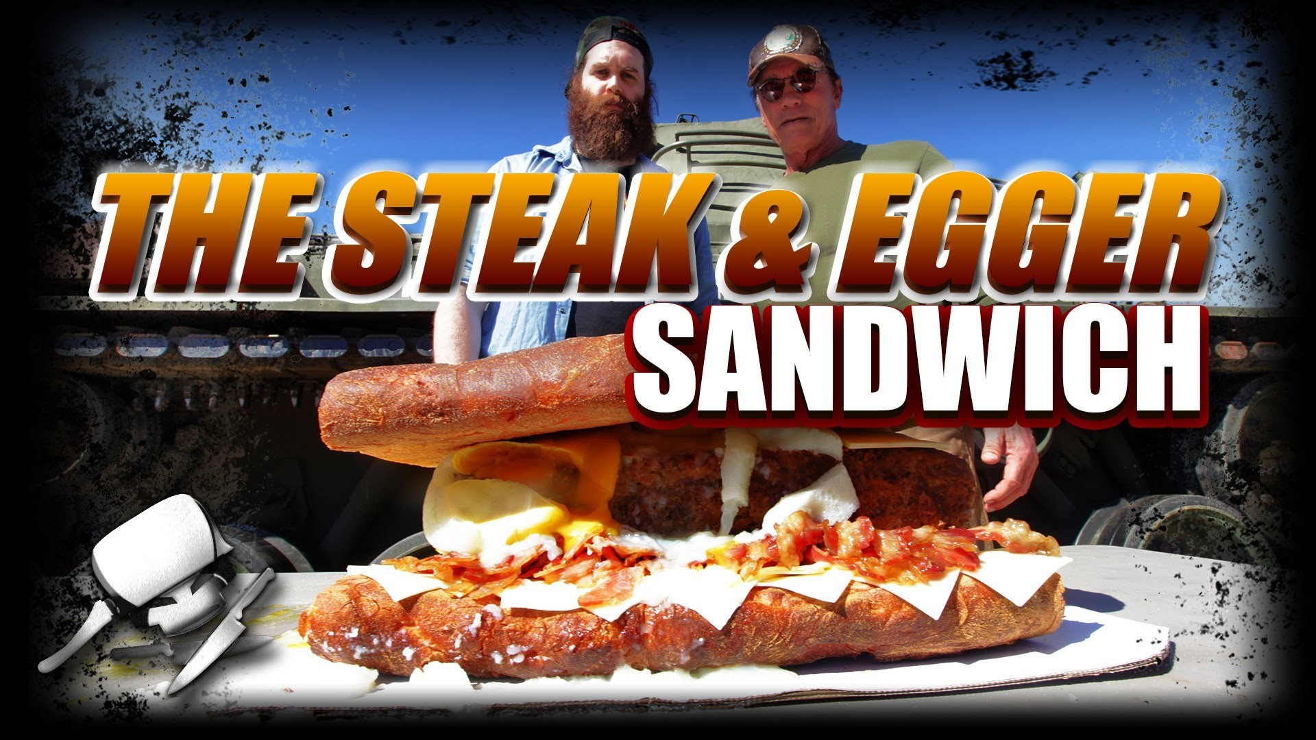 The Steak & Egger Sandwich - Epic Meal Time w. Arnold Schwarzenegger