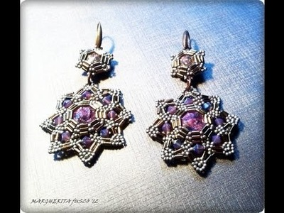 Tutorial come fare orecchini con perline, bugle beads earrings tutorial