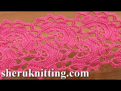 Wide Crochet Lace Tutorial 7 Part 2 of 2 Lace Tape