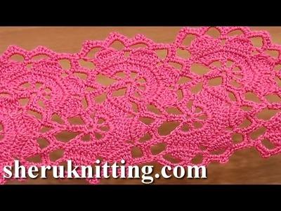 Wide Crochet Lace Tutorial 7 Part 2 of 2 Lace Tape