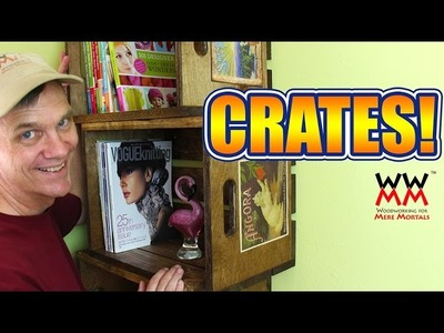 Wood Crate Bookshelves. How to Make Vintage Crates!