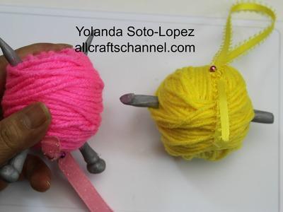 Yarn Ball Ornaments (Subtitulos en Espanol)