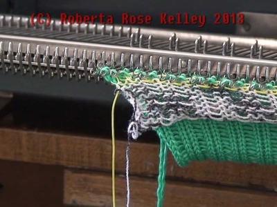 2x1 Mock Rib on the Knitten Kitten SK7