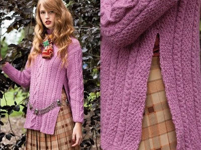 #6 Aran Pullover, Vogue Knitting Fall 2013