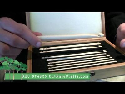 9 Bamboo Crochet Hooks Gift Set - CutRateCrafts