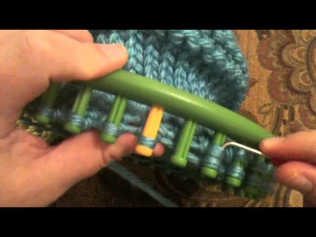 Adult Hat Loom Decrease Crown 36 Peg Round Loom with CC