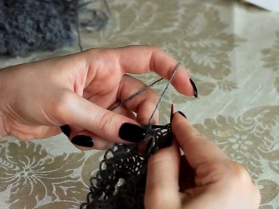 Attaching lace edging to shawl's live stitches (knitting backwards)