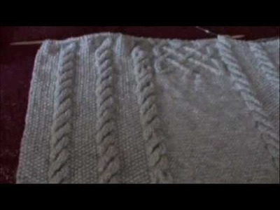 Cable blanket with celtic knot