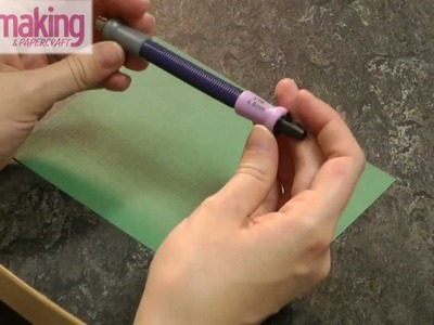 Cardmaking & Papercraft - How to: set eyelets