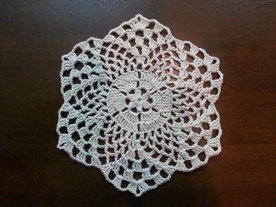 Crochet Beautiful Mini Doily - Pineapples Pattern - Part 2