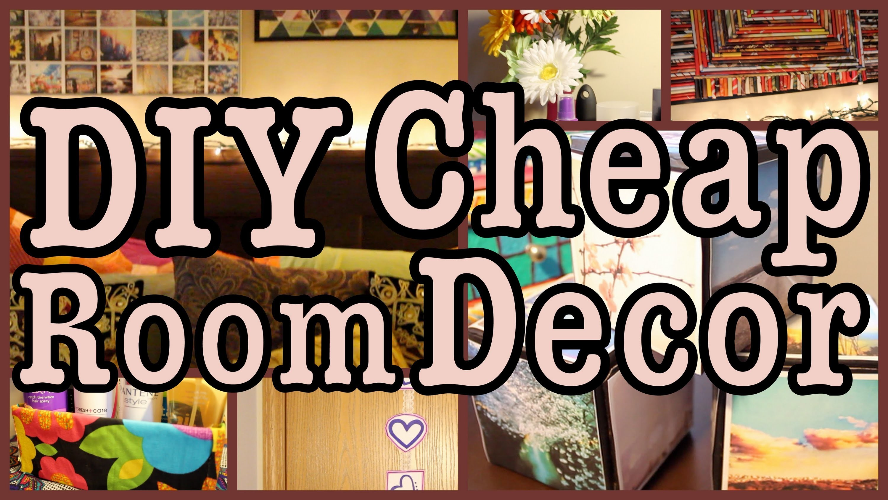 DIY: Cheap Room Decor! ✽ Ways to SPICE Up Your Room