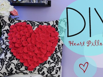 DIY Cute Easy Pillowcase & Flower Heart {How to Make} Gift Idea