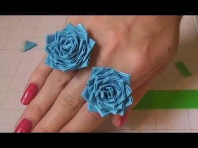DIY: Duct Tape Rose Ring. Flower Ring