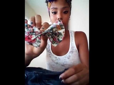 DIY Floral Bow Pocket Shorts