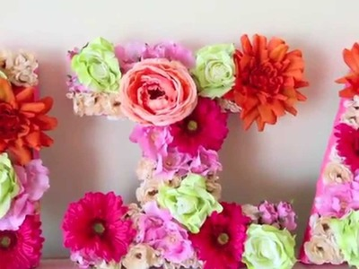 DIY FLOWER LETTER DECOR (SPRING)