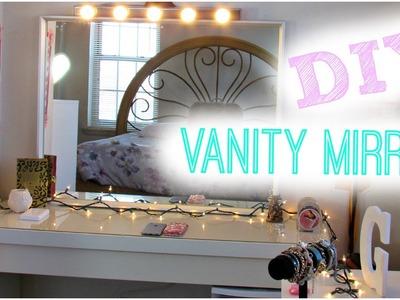 DIY Hollywood Vanity Light Mirror | DIY Room Decor ♥ Easy, Cheap, & NO DRILLING!
