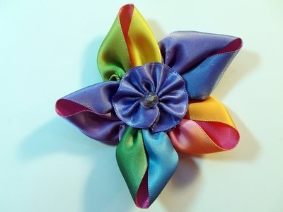 DIY: How To Make an Easy 5 Petal Ribbon Flower