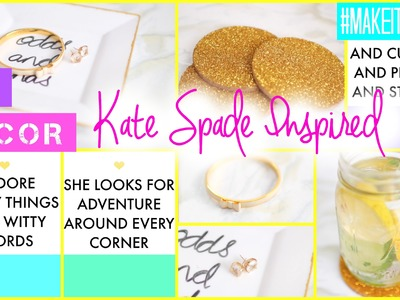DIY Kate Spade Inspired Decor | #MAKEITINMAY 2015