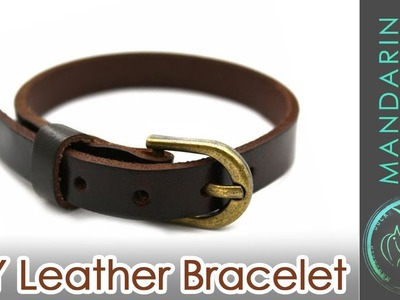DIY: LEATHER BRACELET [recycling your old boots]