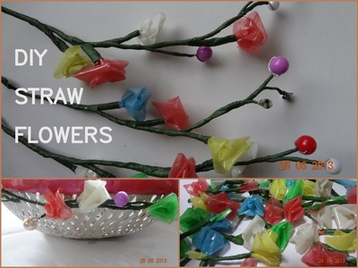 DIY straw flowers and festive basket decoration!