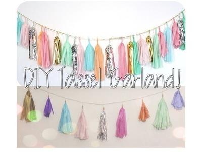 ♡ DIY Tassel Garland ♡ Home | Wedding | Nursery Decor