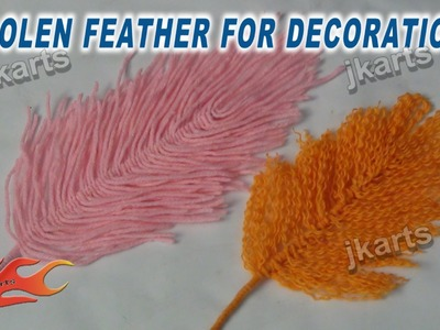 DIY Woolen Feather for Decoration - JK Arts 246