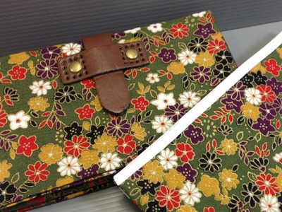 Fabric Origami Wallet with Clasp Make Your Own