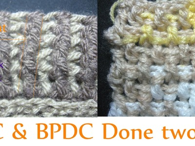 Front post Double Crochet - Back Post Double Crochet - Beginner Crochet Tutorial