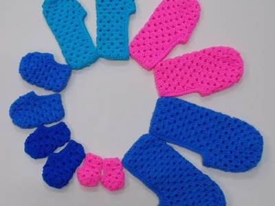 Granny Stitch Slipper Newborn Crochet Tutorial