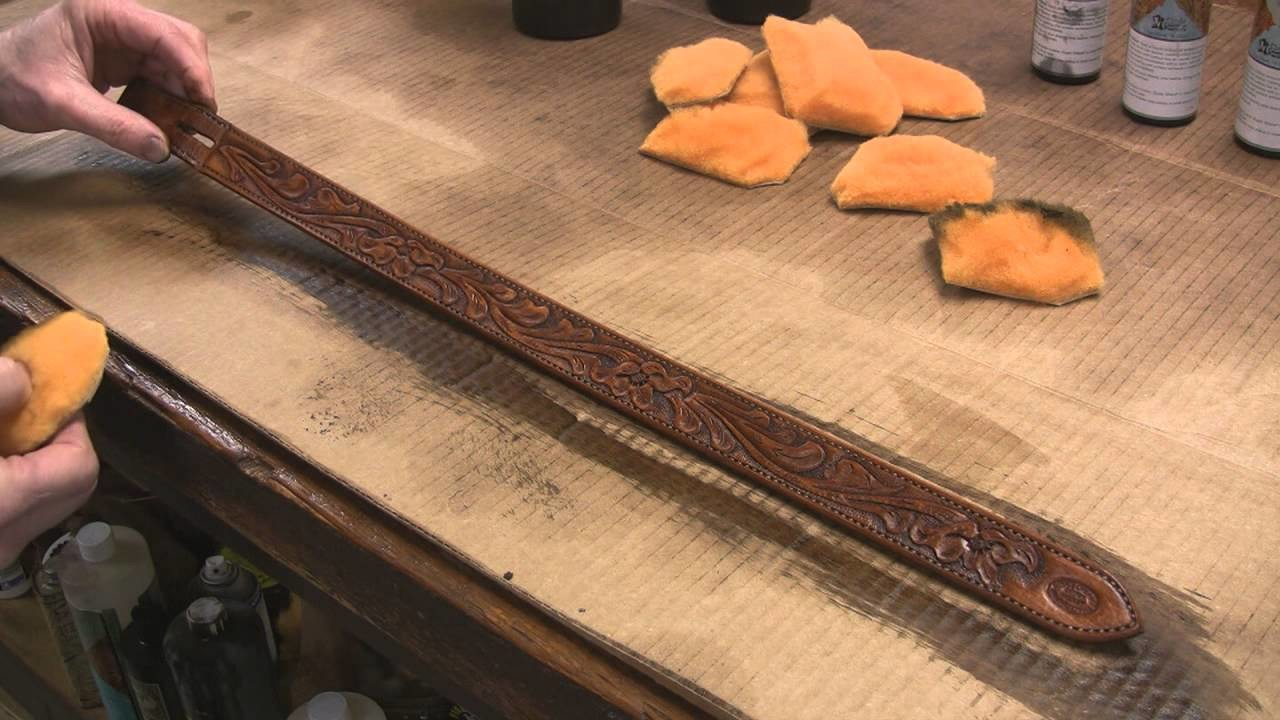 How to Antique Finish Leathercraft Projects