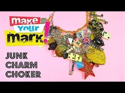 How to: Make a Chunky Junk Charm Choker