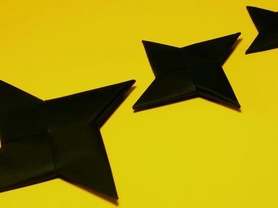 How to make a Paper Ninja Star - Origami Ninja Star Easy - For Beginners