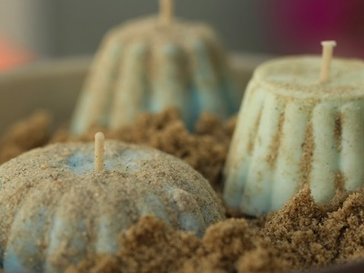 How to Make Citronella Sand Candles || KIN DIY