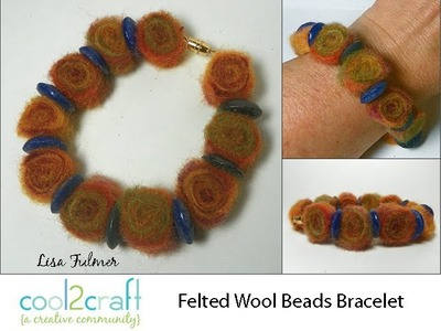 How to Make Needlefelted Wool Beads by Lisa Fulmer DIY Craft
