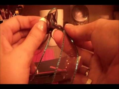 How to tie a perfect bow or a flat bow for scrapbooking or cardmaking